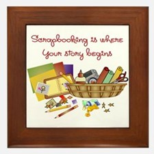 Scrapbooking Framed Tile