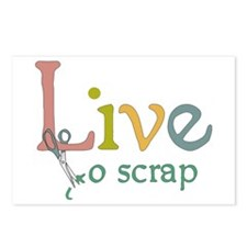 Live to Scrap Postcards (Package of 8)