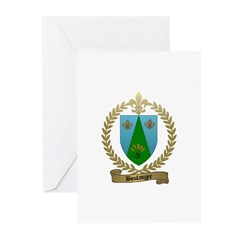 BOULANGER Family Crest Greeting Cards (Package of