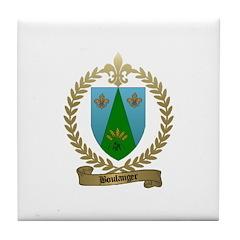 BOULANGER Family Crest Tile Coaster