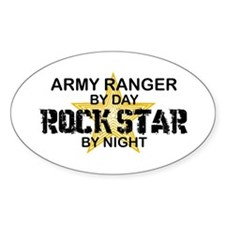 ARMY Ranger Rock Star Oval Decal