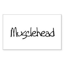 Musclehead Rectangle Decal