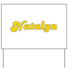 Retro Natalya (Gold) Yard Sign