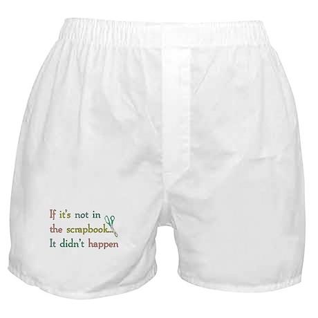 Scrapbooking Facts Boxer Shorts