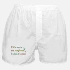 Scrapbooking Facts Boxer Shorts