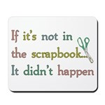 Scrapbooking Facts Mousepad