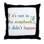 Scrapbooking Facts Throw Pillow