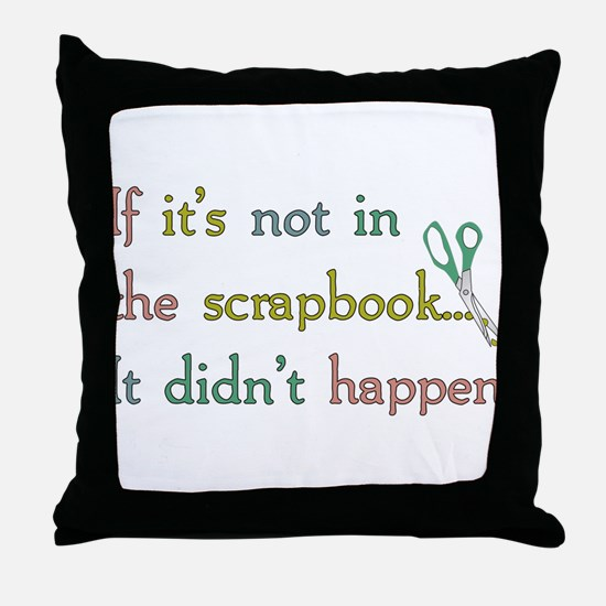 Scrapbooking Facts Throw Pillow