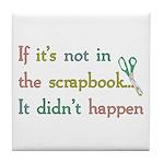 Scrapbooking Facts Tile Coaster