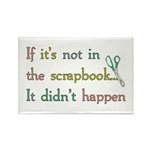 Scrapbooking Facts Rectangle Magnet (10 pack)