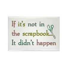 Scrapbooking Facts Rectangle Magnet