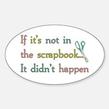Scrapbooking Facts Oval Decal