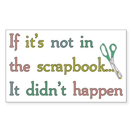 Scrapbooking Facts Rectangle Sticker