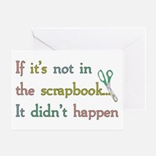 Scrapbooking Facts Greeting Card