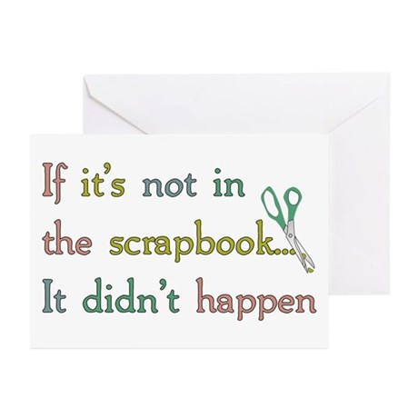Scrapbooking Facts Greeting Cards (Pk of 10)
