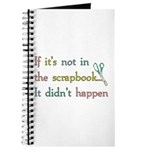 Scrapbooking Facts Journal