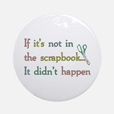 Scrapbooking Facts Ornament (Round)