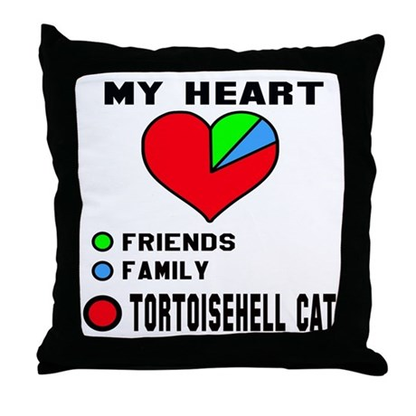 My heart friends, family and Tortoise Throw Pillow