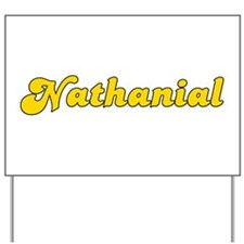 Retro Nathanial (Gold) Yard Sign