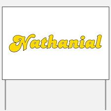 Retro Nathanial (Gold) Yard Sign