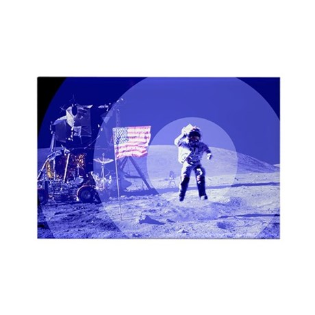 Blue Moon Rectangle Magnet