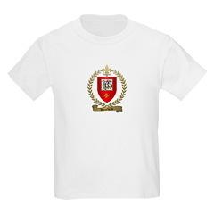 BOURBEAU Family Crest Kids T-Shirt