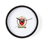 BOURBEAU Family Crest Wall Clock