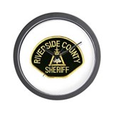 Riverside county sheriff Wall Clocks