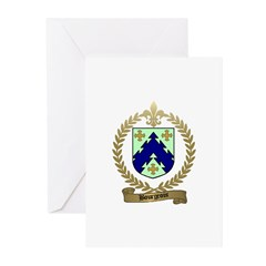 BOURGEOIS Family Crest Greeting Cards (Package of