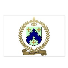 BOURGEOIS Family Crest Postcards (Package of 8)