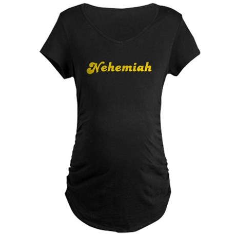 Retro Nehemiah (Gold) Maternity Dark T-Shirt