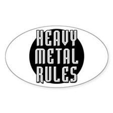 Heavy Metal Rules Oval Decal