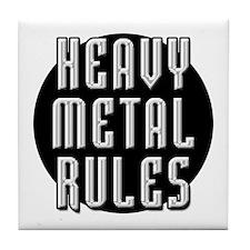 Heavy Metal Rules Tile Coaster