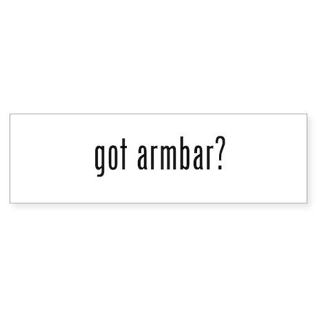 got armbar? Bumper Sticker