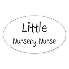 Little Nursery Nurse Oval Sticker