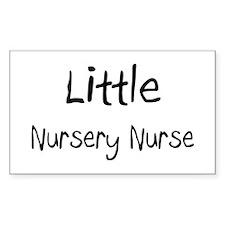 Little Nursery Nurse Rectangle Sticker