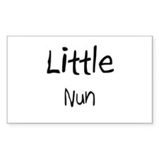 Little Nun Rectangle Decal