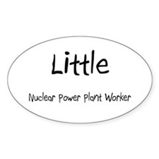 Little Nuclear Power Plant Worker Oval Decal