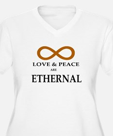 LOVE & PEACE ARE ETHERNAL Plus Size T-Shirt