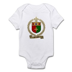 BOURQUE Family Crest Infant Creeper