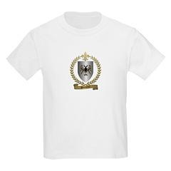 BOUTIN Family Crest Kids T-Shirt