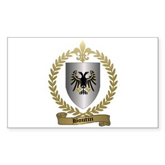 BOUTIN Family Crest Rectangle Decal