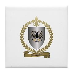 BOUTIN Family Crest Tile Coaster