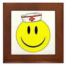 RN Nurse Happy Face Framed Tile