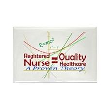 RN = Quality Healthcare Rectangle Magnet (100 pack
