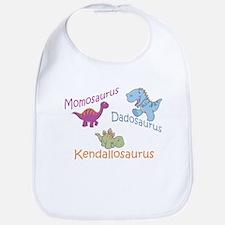 Mom, Dad, & Kendallosaurus Bib
