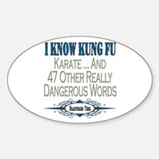 Kung Fu Oval Decal