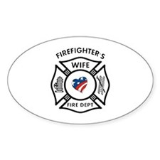 Fire Fighter Wife Oval Decal