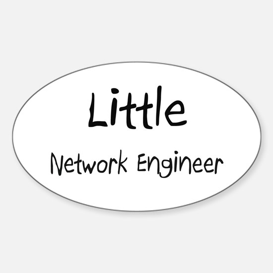 Little Network Engineer Oval Decal