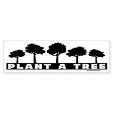Plant Tree Bumper Bumper Sticker
